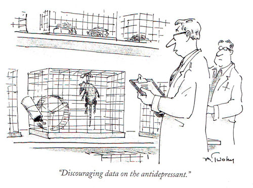 Cartoon about antidepressants